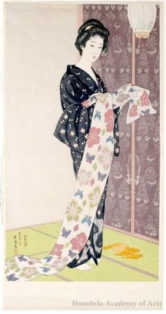 Hashiguchi Goyo: Young Woman in Summer Kimono - Honolulu Museum of Art