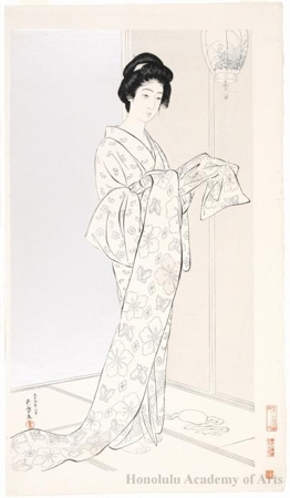 Hashiguchi Goyo: Young Woman in Summer Kimono - Honolulu Museum of Art