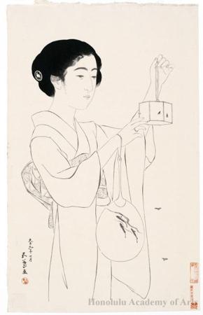 Hashiguchi Goyo: Woman with Firefly Cage - Honolulu Museum of Art