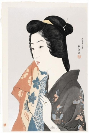 Hashiguchi Goyo: Woman with a Hand Towel - Honolulu Museum of Art