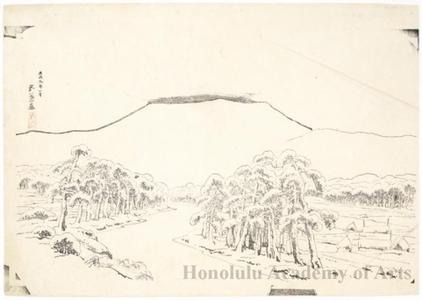 橋口五葉: Mount Ibuki in Snow From Tarui - ホノルル美術館
