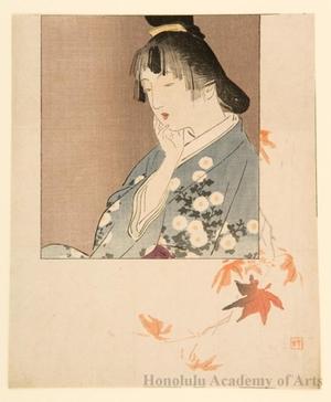 梶田半古: Coloration of Maple Leaf - ホノルル美術館