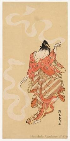 鈴木春信: Dancer, Nuno-sarashi - ホノルル美術館