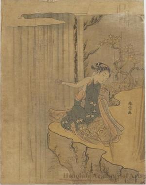 Suzuki Harunobu: Waterfall - Honolulu Museum of Art