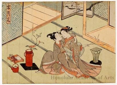 Suzuki Harunobu: Snow, Moon, Flowers: Flowers - Honolulu Museum of Art