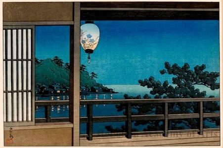 川瀬巴水: Enoshima - ホノルル美術館