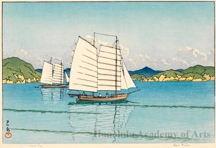 川瀬巴水: Inland Sea - ホノルル美術館