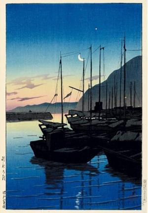 Kawase Hasui: Dawn at Beppu - Honolulu Museum of Art