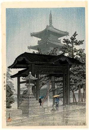 Kawase Hasui: Zentsüji Temple, Sanshü - Honolulu Museum of Art