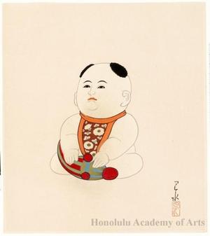 川瀬巴水: Gosho Ningyö (Palace Doll) - ホノルル美術館