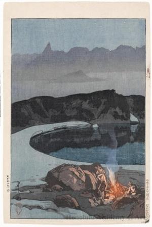 Yoshida Hiroshi: Camping at Washibadake - Honolulu Museum of Art