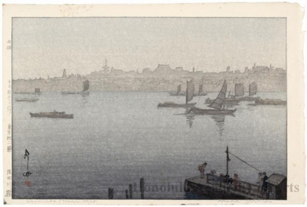 Yoshida Hiroshi: The Sumida River in the Mist - Honolulu Museum of Art