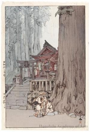吉田博: A Misty Day in Nikko - ホノルル美術館