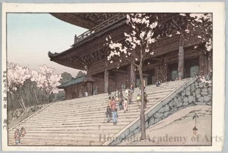 吉田博: The Chion-in Temple Gate (Later printing by Toshi Yoshida) - ホノルル美術館
