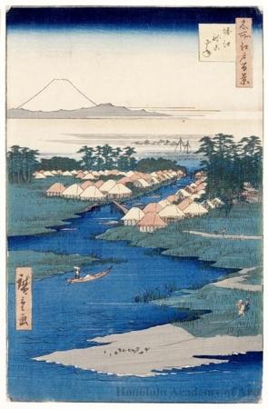Utagawa Hiroshige: Horie and Nekozane - Honolulu Museum of Art
