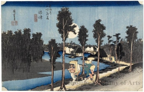 Utagawa Hiroshige: Twilight at Numazu (Station #13) - Honolulu Museum of Art