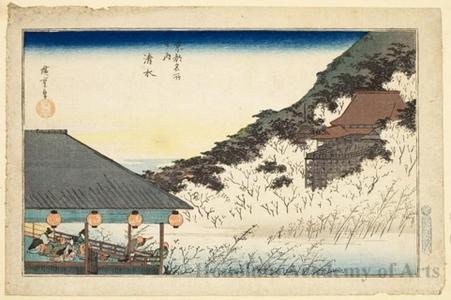 Utagawa Hiroshige: Kiyomidzu Temple - Honolulu Museum of Art