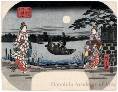 Utagawa Hiroshige: Moonlight at Hashiba - Honolulu Museum of Art