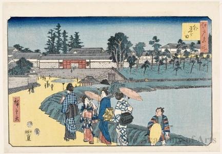歌川広重: Outer Sakurada - ホノルル美術館