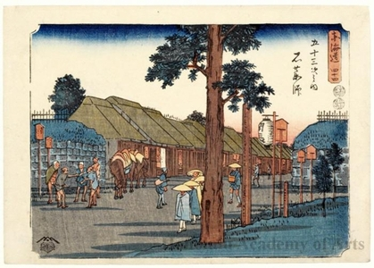 Utagawa Hiroshige: Ishiyakushi (Station #45) - Honolulu Museum of Art