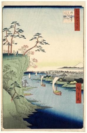 歌川広重: View of Könodai and the Tone River - ホノルル美術館