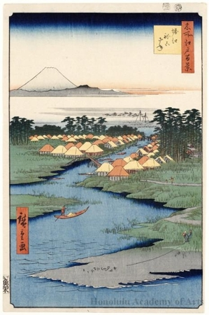 Utagawa Hiroshige: Horie and Nekozane - Honolulu Museum of Art