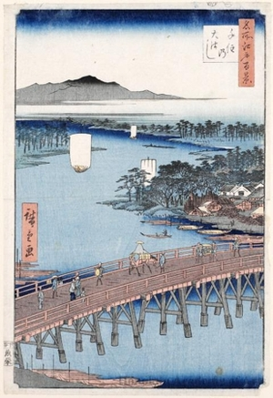 Utagawa Hiroshige: Senju Great Bridge - Honolulu Museum of Art