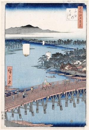 Utagawa Hiroshige: Senju Great Bridge - Honolulu Museum of Art