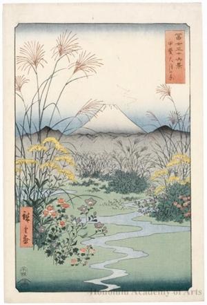 歌川広重: Ötsuki Plain in Kai Province - ホノルル美術館