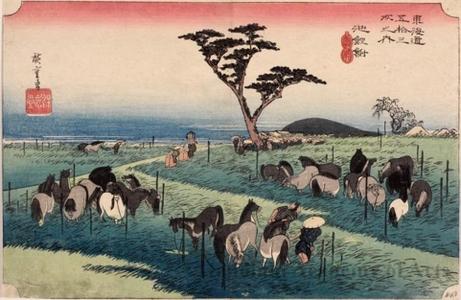 Utagawa Hiroshige: The Summer Horse Fair at Chiryü (Staton #40) - Honolulu Museum of Art