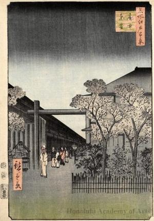 歌川広重: Dawn inside the Yoshiwara - ホノルル美術館