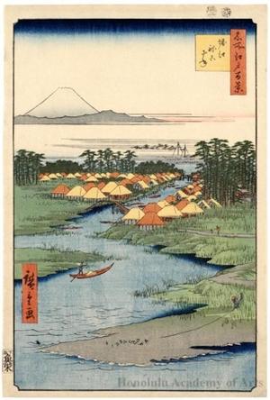 歌川広重: Horie and Nekozane - ホノルル美術館
