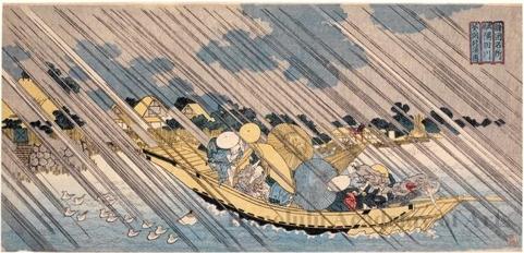 Totoya Hokkei: Sumida River, Musashi - Honolulu Museum of Art