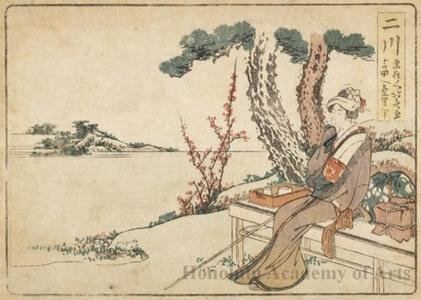 葛飾北斎: Futagawa 1.5 Ri to Yoshida - ホノルル美術館