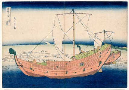 葛飾北斎: At Sea off Kazusa - ホノルル美術館