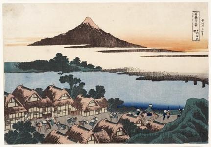 Katsushika Hokusai: Isawa at Daybreak / IDawn at Isawa in Kai Province - Honolulu Museum of Art
