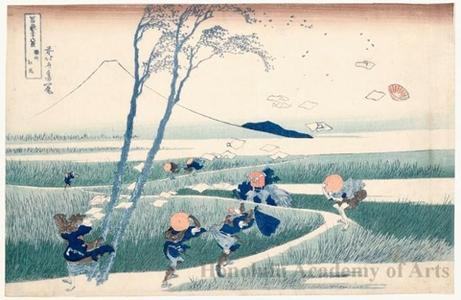 葛飾北斎: Ejiri in Suruga Province - ホノルル美術館