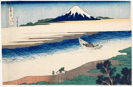 Katsushika Hokusai: The Tama River in Musashi Province - Honolulu Museum of Art