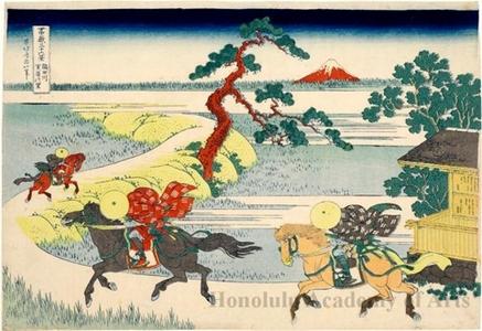 Katsushika Hokusai: Sekiya Village on the Sumida River - Honolulu Museum of Art