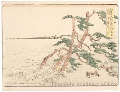 葛飾北斎: Hamamatsu 2ri 30chö to Maisaka - ホノルル美術館