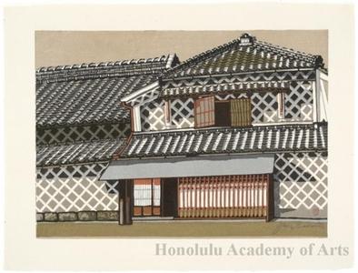 Sekino Junichirö: Numazu: Latticework Tile Wall - ホノルル美術館