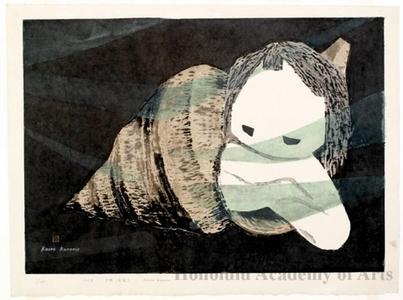河野薫: Young Lady and Seashell - ホノルル美術館
