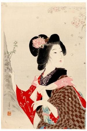 Suzuki Kason: Viewing Cherry Blossoms - ホノルル美術館