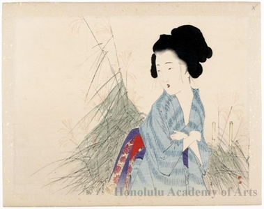 Takeuchi Keishu: Beauty Watching Autumn Flowers - Honolulu Museum of Art