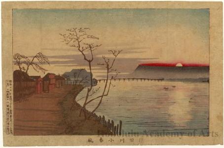 小林清親: Late Autumn Calm on the Sumida River - ホノルル美術館