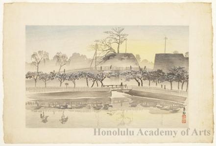 Kobayashi Kiyochika: City View (Posthumous woodcut of a Kiyochika painting) - Honolulu Museum of Art