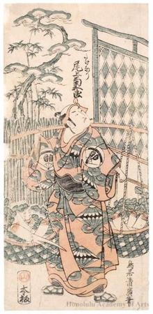 Torii Kiyohiro: Onoe Kikugorö as Goinosuke Takenari - Honolulu Museum of Art