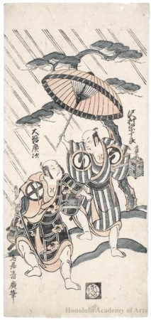 Torii Kiyohiro: Sawamura Söjürö II and Ötani Hiroji II - Honolulu Museum of Art