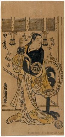 Torii Kiyomasu II: Yamashita Kinsaku as a Gagaku Dancer - Honolulu Museum of Art