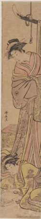 Torii Kiyonaga: A Yüjo watching Her Shinzö Write a Letter - Honolulu Museum of Art
